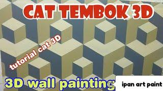 Cat tembok 3D- tutorial cat 3D- Wall art painting- 3D wall painting