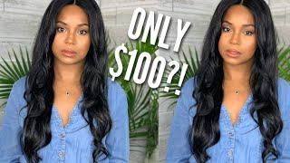 FRONTAL & 3 BUNDLES FOR $100?!   WINE N' WIGS WEDNESDAY   JANET COLLECTION BRAZILIAN BUNDLE HAIR