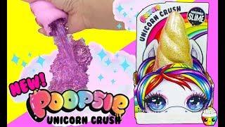 NEW Poopsie Unicorn Crush Make Glitter Slime With Magic Sand Unicorn Horn