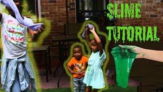 Making Slime For The First Time! ( How to make Slime the EASY Way Tutorial )