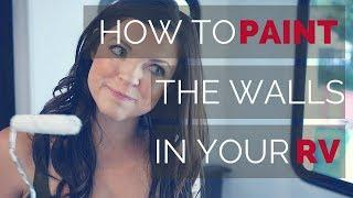How to Paint Your RV Walls and Remove the Window Treatments | RV Renovations | Becoming Nomads