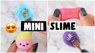 MAKING 4 AMAZING DIY NO GLUE SLIMES - Viral Mini Slime Recipes Tested!
