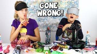 BLINDFOLDED SLIME PRANK CHALLENGE GONE WRONG!!!