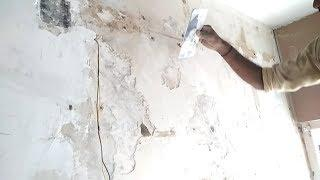 How to remove and apply wall putty on your old wall