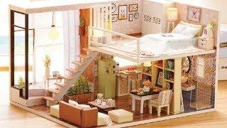 5 DIY Miniature Doll House Rooms - How to Make: Doll Apartment | Bedroom and MORE!