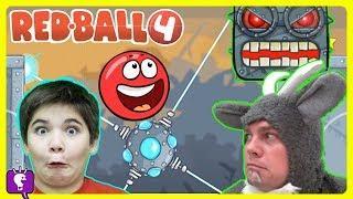 Red Ball 4 + GOAT in the HOUSE!! Phone App Play by HobbyKidsTV