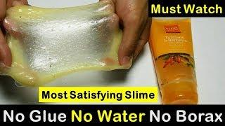 Most Satisfying Slime Video|| How To Make Slime With Body Wash, Dish Soap & Salt || NO Glue NO Water