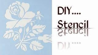 How to make stencil// Diy stencil for wall art and painting