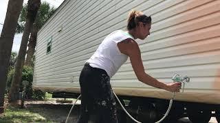 How to paint rv trailer home siding | Jensen Beach FL