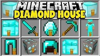 Minecraft DIAMOND HOUSE MOD | LIVE INSIDE A MINECRAFT DIAMOND HOUSE!