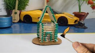 Match Stick House Fire????. How To Make Match Stick House. Match Stick Craft