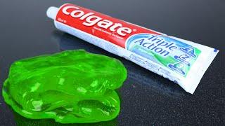 Colgate Toothpaste Slime , How to Make Slime Soap Salt and Toothpaste, NO GLUE !!