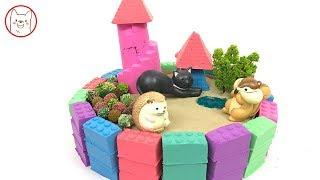 How To Make Rainbow House with Kinetic Sand, Mad Mattr, Learn Colors For Kids.