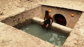 Digging to build The Most Awesome Underground Swimming Pool and Underground House