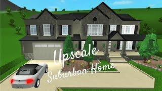 ROBLOX/Bloxburg: Upscale Suburban Home (NEW ITEMS) [SPEED BUILD]