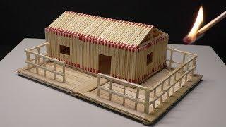 How to Make a Match Stick House - Amazing Match House Fire