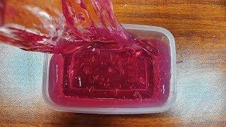 Water Slime! NO BORAX Water Slime , How To Make Clear Slime