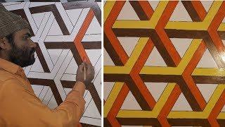 3d wall decoration effect | 3d wall texture new design ideas | 3d wall painting | interior design