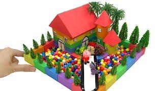 How To Make Rainbow House with Kinetic Sand, Mad Mattr, Candy