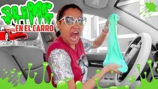 Haciendo SLIME en el CARRO andando ???? Desastre Total! | Yarissa ????