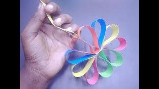 """How to Make A Hanging Paper Flower for Easy Party Decorations I DIY- Craft 