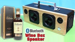 BOOMBOX Bluetooth Speaker from Wooden Wine Box | How to make