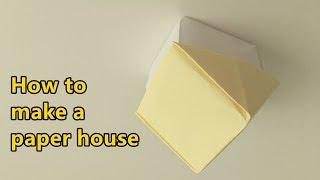 [Origami Paper House] how to make easy & simple paper House|DIY for kids
