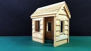 Build a Simple Popsicle Stick House - Simple Tutorial