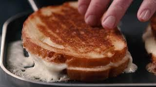 Knife and Fork Grilled Cheese with Honey | Recipe | Food & Wine