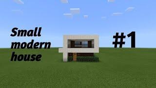 How to make a small modern house #1 MCPE