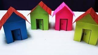 How to make a Paper House/ Easy paper Craft # Origami paper house/ Easy paper craft #My Creative Hub