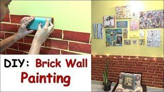 DIY Brick Wall Effect Painting | Wall Painting Ideas | Wall Makeover & Wall Decor Tips | Her Fab Way