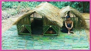 Primitive Technology: Build Mini Bamboo Underground House