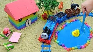 Head Shoulders Knees and Toes Songs | How To Make House and Swimming Pool with Kinetic Sand