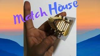 How To Make Hand Made Match Stick House Craft|Home Made Match Stick Art And Craft For Propose Day