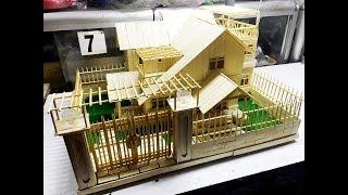 How to Make a beautiful House  from Popsicle Stick