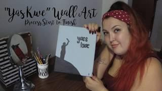 Paint With Me - Basic Two-Colour Wall Art Painting Process Tutorial for Beginners