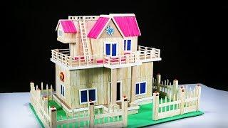 How to Make a Beautiful Popsicle Stick House