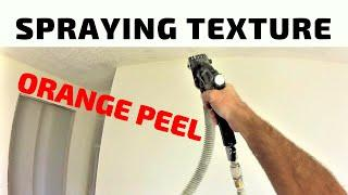 How to Orange Peel Texture entire bedroom walls with small texture rig