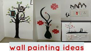 Wall painting ideas,switchboard art,painting with foto frame