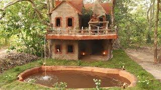 Build The Best Awesome Jungle Villa House & Mini Swimming Pool