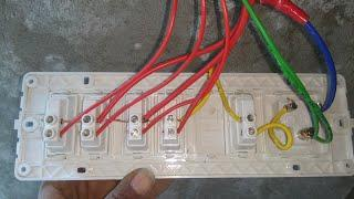 House wiring kase kare, How to make modular switch board, how to fit modular switch board