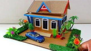 How to make Beautiful Cardboard Mansion House #64 | Backyard Crafts