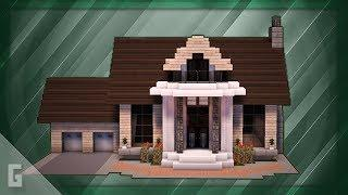 Minecraft: How To Build A Large Suburban House Tutorial (#6)