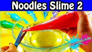 Haciendo Slime con mangas pasteleras 2 (Noodles Slimes) ????SUPERMANUALIDADES????