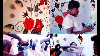 Wall Painting Bubbles Designs Ideas Flowers | Floral wall art