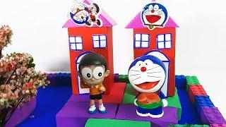 DIY How To Make Garden House, Pool with Kinetic Sand for Doraemon | Nursery Rhymes Song for Kids
