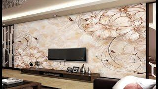 Latest 100 Wallpaper ideas and wall paint designs for living room and bedrooms decoration 2019