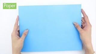 How to Make a Paper Airplane that flies far and straight easy and fast video