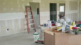 Tapping Mudding Drywall Sheetrock Almost Done